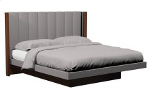 American Modern Vertical Panel Upholstered Platform Queen Bed