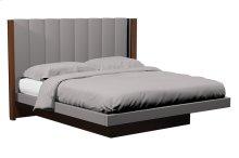 American Modern Vertical Panel Upholstered Platform Queen Bed