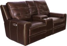 Power Reclining Console Loveseat With Usb and Power Headrest
