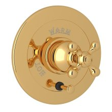 Italian Brass Arcana Integrated Volume Control Pressure Balance Trim With Diverter with Arcana Series Only Cross Handle