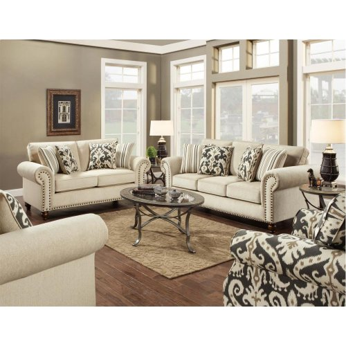 Fairly Sand Sofa and Loveseat