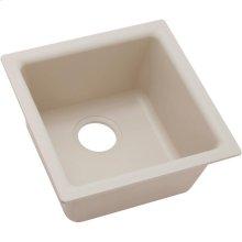 "Elkay Quartz Classic 15-3/4"" x 15-3/4"" x 7-11/16"", Single Bowl Dual Mount Bar Sink, Bisque"