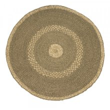 Round Striped Area Rug
