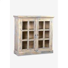 Promenade glass pane 2 door cabinets ..(47.25X16X45.25)....