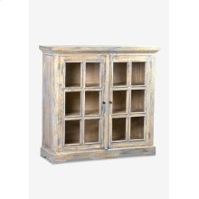 Promenade glass pane 2 door cabinets ..(47.25X16X45.25)....