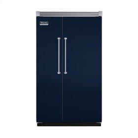 "Viking Blue 48"" Quiet Cool™ Side-by-Side Refrigerator/Freezer - VISB Tru-Flush™ (48"" wide)"