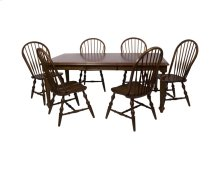 Sunset Trading 7 Piece Andrews Butterfly Leaf Dining Table Set in Chestnut