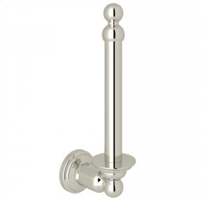 Polished Nickel Perrin & Rowe Edwardian Wall Mount Spare Toilet Paper Holder
