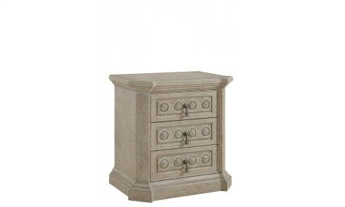 Arch Salvage Bedside Chest- Parchment