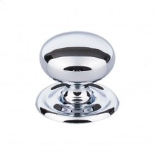 Victoria Knob 1 1/4 Inch w/Backplate - Polished Chrome