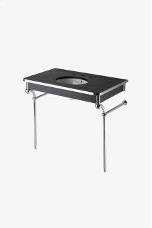 """Etoile Metal Round Two Leg Single Washstand 39 1/2"""" x 23 5/8"""" x 34"""" STYLE: ETWS47"""