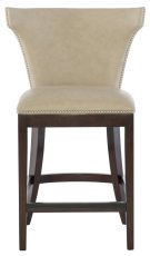 Wyatt Leather Counter Stool in #13 Bright Nickel Product Image