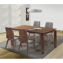Armen Living Treviso Mid-Century Walnut Wood 5 Piece Dining Set Product Image