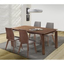 Armen Living Treviso Mid-Century Walnut Wood 5 Piece Dining Set