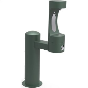 Elkay Outdoor EZH2O Bottle Filling Station Pedestal, Non-Filtered Non-Refrigerated Evergreen