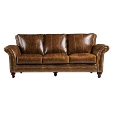2239 Butler Sofa 5507 Brown (100% Top Grain Leather)
