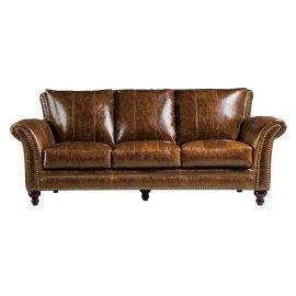 2239 Butler Sofa Brown (100% Top Grain Leather)