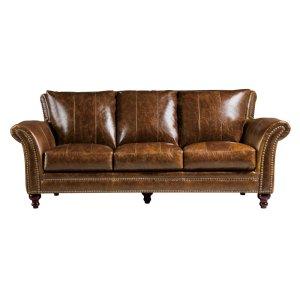 Leather Italia Usa 2239 Butler Sofa 5507 Brown (100% Top Grain Leather)