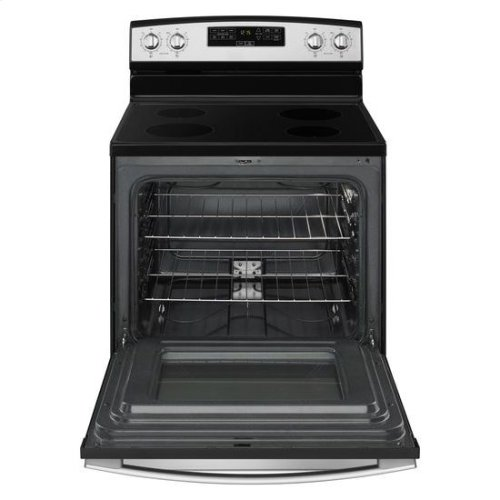 30-inch Electric Range with Extra-Large Oven Window - stainless steel