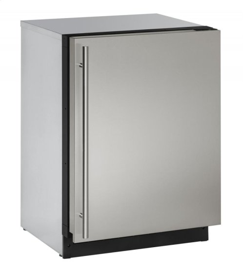 """2000 Series 24"""" Solid Door Refrigerator With Stainless Solid Finish and Field Reversible Door Swing"""