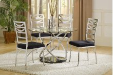 Dimensions Chrome Table with Marble Base Table