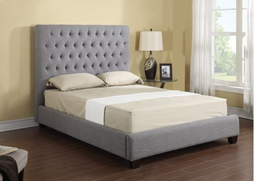 Headboard/footboard/rails/slats 6/6 Upholstered