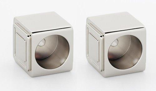 Cube Shower Rod Brackets A6546 - Polished Nickel