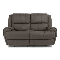 Nance Fabric Power Reclining Loveseat with Power Headrests Product Image