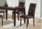 "DINING CHAIR - 2PCS / 38""H / DARK BROWN LEATHER-LOOK Product Image"