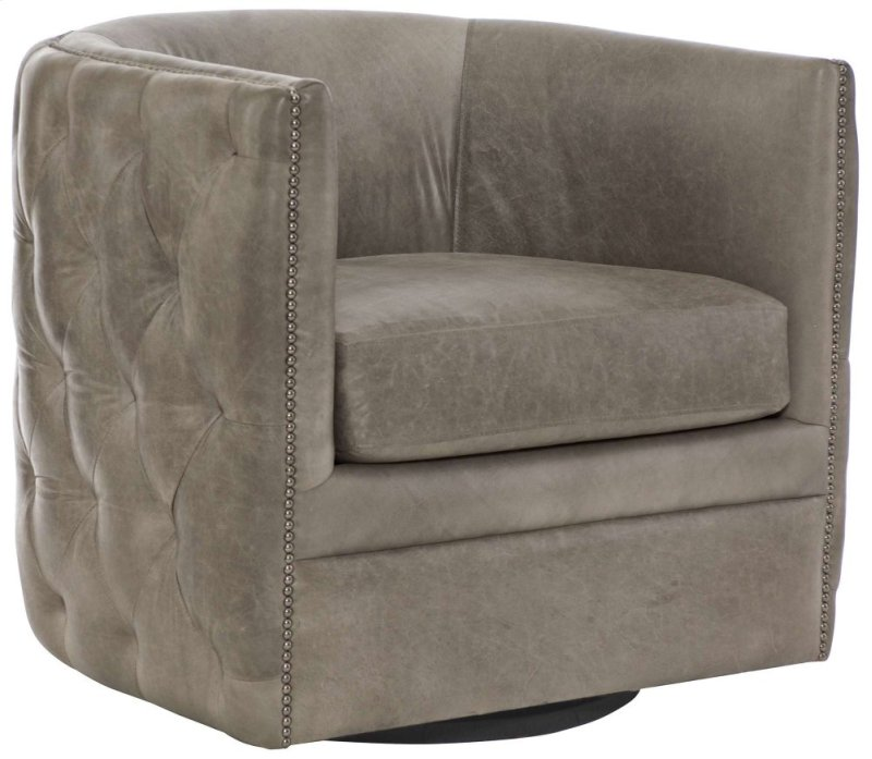 Palazzo Swivel Chair in #44 Antique Nickel - 212SL In By Bernhardt In Ferndale, WA - Palazzo Swivel Chair In #44