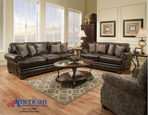 6400 - Trilateral Chocolate Sofa