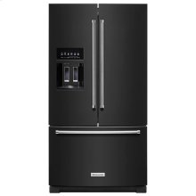 KitchenAid® 26.8 cu. ft. 36-Inch Width Standard Depth French Door Refrigerator with Exterior Ice and Water - Black