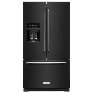 KitchenaidKitchenAid® 26.8 cu. ft. 36-Inch Width Standard Depth French Door Refrigerator with Exterior Ice and Water - Black