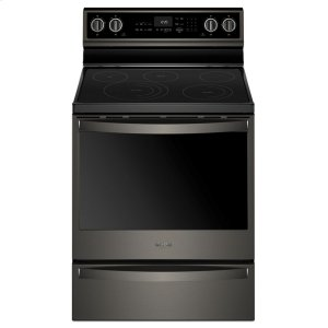6.4 Cu. Ft. Smart Freestanding Electric Range with Frozen Bake Technology - FINGERPRINT RESISTANT BLACK STAINLESS