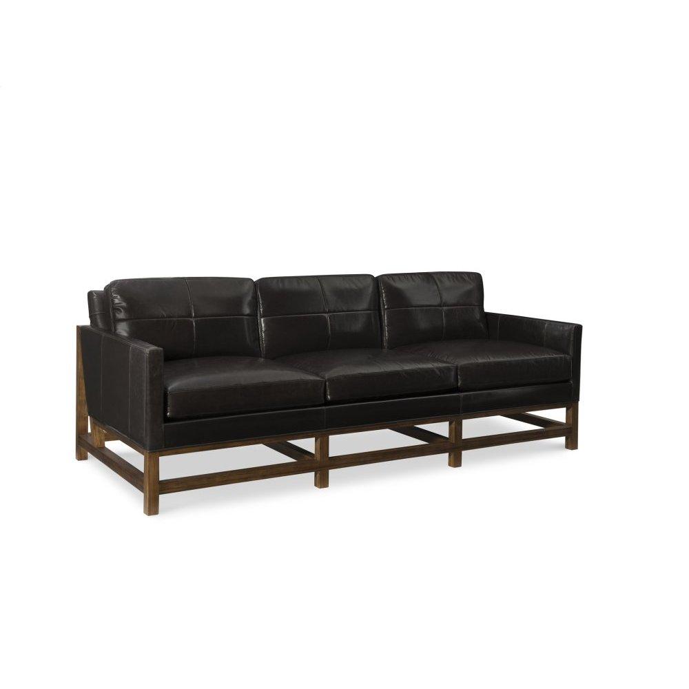 Ledbury Biscuit Tuft Leather Sofa