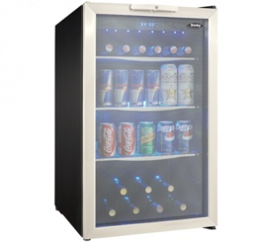 Danby 124 Beverage Center  BLACK WITH STAINLESS STEEL