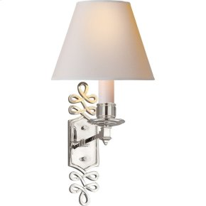 Visual Comfort AH2010PN-NP Alexa Hampton Ginger 1 Light 8 inch Polished Nickel Decorative Wall Light