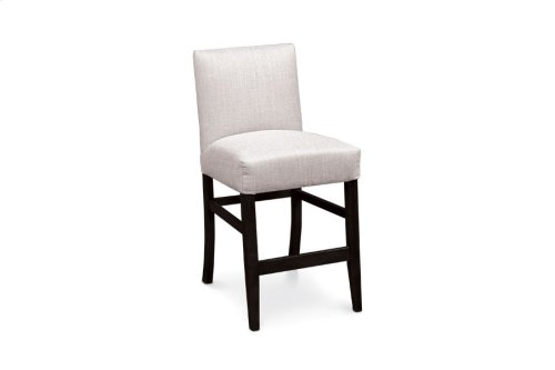 "Claire Stationary Barstool, 24""h, Claire Stationary Barstool, 24""h, Fabric Seat and Back"