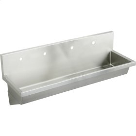 "Elkay Stainless Steel 96"" x 20"" x 8"", Wall Hung Multiple Station Hand Wash Sink"