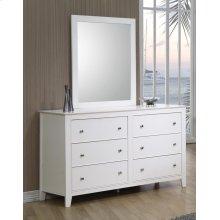 Selena Contemporary White Mirror