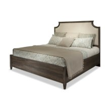 Queen Scallopped Upholstered Bed