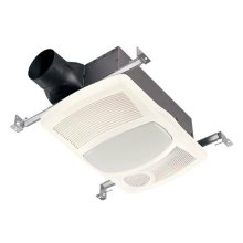 Heater/Fan/Light, 1500W Heater, with 100W Incandescent Light, 100 CFM; Ventilation Fans