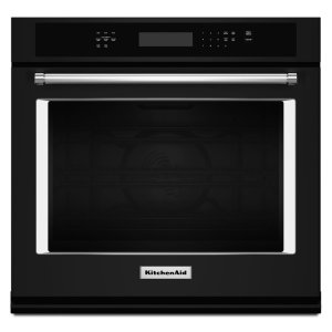 "KitchenAid27"" Single Wall Oven with Even-Heat True Convection - Black"