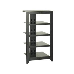 Black Audio Stand Contemporary design and solid construction come together to create strength and beauty - BLACK