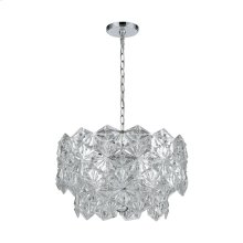 Lavique 4-Light Pendant in Polished Chrome with Clear Crystal