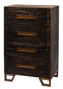 Bridgewater 4 Drawer Cabinet - Rubbed Black Wood