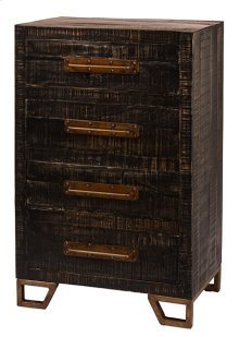 Bridgewater 4 Drawer Cabinet - Rubbed Black Wood