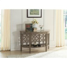 Parkdale - Demilune Sofa Table - Dove Grey Finish