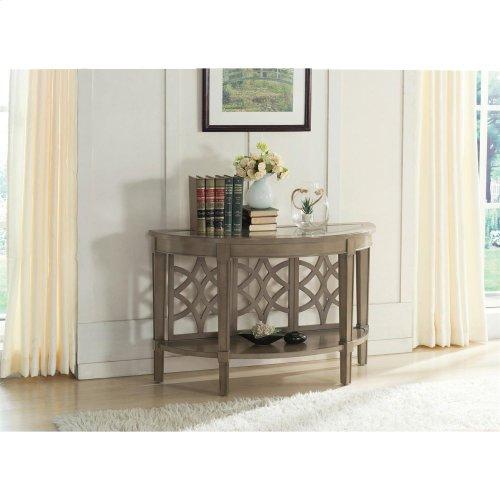 Parkdale - Demilune Sofa Table - Dove Grey Finish