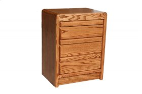 O-C320 Modern Oak 3-Drawer Night Stand